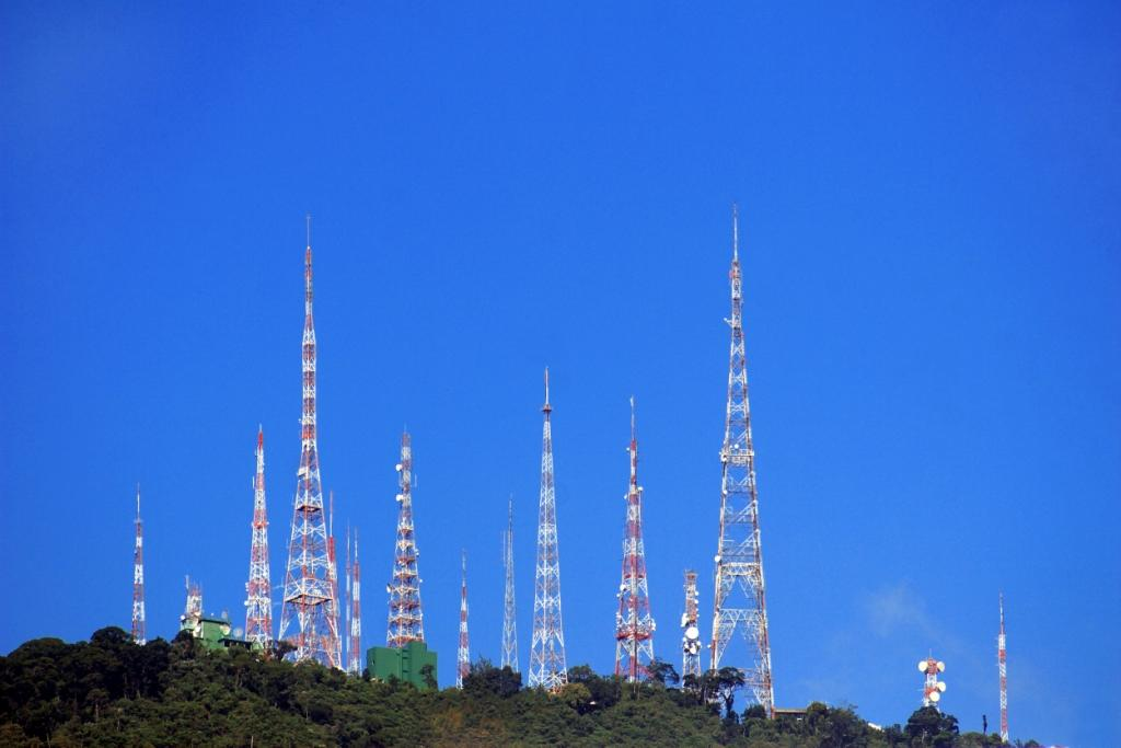 Multiple Radio Towers
