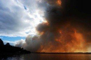 Smoke from bushfire