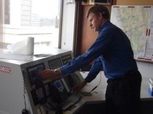 Anthony Benbow of DFES sends the final transmission on their 950 Radio Management System