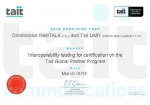 Tait GPP Endorsed Certificate v1 0_OmnitronicsDMR_5014-05