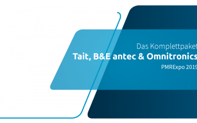 Das embalagens: Tait, B&E antec e Omnitronics