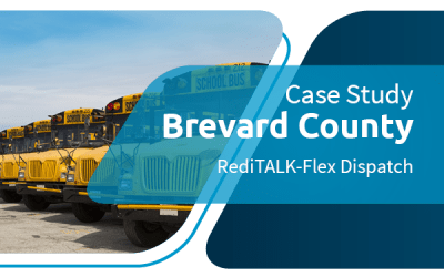 Despacho de transporte escolar do condado de Brevard atualizado para Omnitrônica RediTALK-Flex
